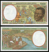 CENTRAL AFRICAN STATES CHAD 1,000 1000 Francs 2000 P-602Pg UNC Uncirculated
