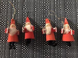 ANTIQUE VINTAGE FATHER CHRISTMAS FIGURES DECORATIONS JAPAN 50s 40s