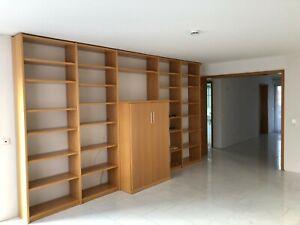 Bibliothek (Marke Paschen), mit verschließb. Fernsehschrank, Buche, hochwertig!