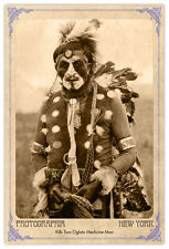 Kills Two Oglala Sioux Medicine Man Vintage Photograph A++ Reprint Cabinet Card
