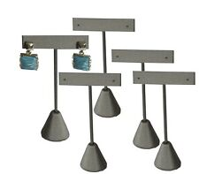 "LOT OF 5 STEEL GRAY EARRING DISPLAY STAND EARRING TREE 5 3/4""H EARRING STAND"