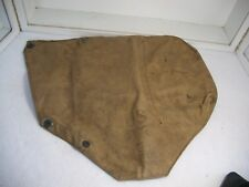 VINTAGE WW2 ERA SERVICE GAS MASK BAG WITH CHEMICAL CORP INSIGNIA