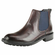 Ted Baker Warkrr Mens Dark Red Leather Chelsea Boots