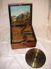 "Kalliope 6 Glocken 23,5cm Platten 6 bells music box with 15 discs 9 1/4"" automat"