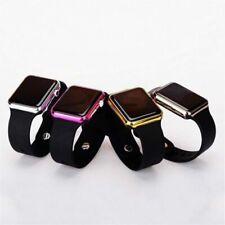 Quantity 2 - Unisex Men Women Fashionable Square LED Digital Sports Wrist Watch
