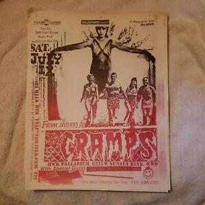 Vintage Punk Flyer:Cramps + Social D. - Palladium