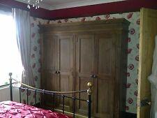 Waxed 4 Door Wardrobe with fluting detail
