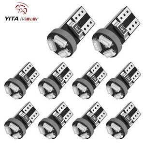 YITAMOTOR 10PCS Green T5 74 17 18 Wedge LED Bulb Dashboard Dash Instrument Light