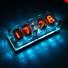 Nixie Clock 4 x In-12 With Tube Rgb Backlight Assembled 12/24 format Usa store