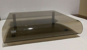 Vintage IBM Plexiglass Computer Monitor Printer Riser Stand