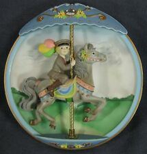 Big Hopes Bright Dreams Collector Plate Carousel Daydreams Tseng 3D Figural Read