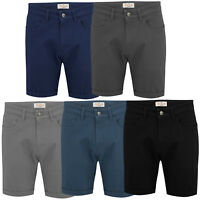 Mens Chino Stretch Shorts Casual Summer Slim Fit Stallion Cotton New Half Pants
