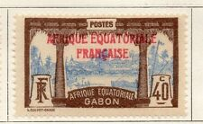 Gabon 1924-27 Early Issue Fine Mint Hinged 40c. Optd 077317