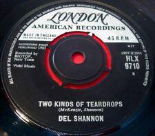 """Del Shannon Two Kinds Of Teardrops 7""""UK ORIG 1963 London American bw Kelly VINYL"""