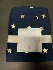 Pottery Barn Kids Small Navy Silver Star Metallic Easter Basket Liner Holiday Nw