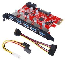 Inateck 5-Port USB 3.0 PCI-Expresskarte + 1 USB 3.0 20-Pin-Stecker & SATA-Kabel