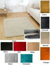 Floor Rugs Hard Wearing 5cm Thick Shaggy Soft Luxury Modern Large Small Quality