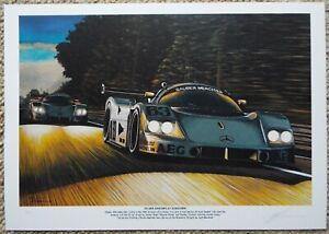 Limited Edition Sauber Mercedes C9 1989 Le Mans 24 Motorsport Artwork Print A3