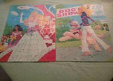 Vintage BARBIE 1980s jigsaw puzzle lot complete WHITMAN dog show Beauty Queen