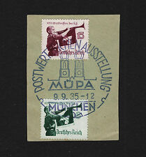 OPC 1935 Germany Munchen postwertzeichen Exhibition Müpa Sc#463-4 Mi#584-5 On Pi