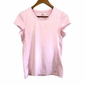 Alo Yoga Women's Short Sleeve Pink Cool Fit Activewear Shirt Size Medium