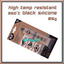 85g High Temperature Silicone +350°C Heat Resistant Glue Adhesive Sealant Black