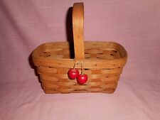 1990 Longaberger Classic Stain 'CANDLE BASKET' - made in Dresden, Ohio