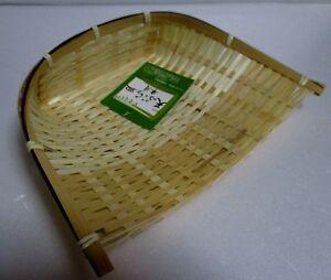 Japanese Bamboo Half Moon Dish Plate for  tenpura  21cm