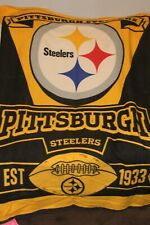 Northwest  NFL Marque Printed Fleece Throw 50 inch x 60 inch - Pittsburgh Steele