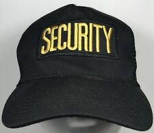 Security Officer Patch Hat Yellow Logo Trucker Cap Snapback