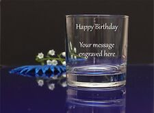 Personalised Engraved Whisky Glass birthday gifts Any message, wishes