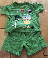 Baby Boys Green Shortie Pirate Pyjamas Size 12-18 Months