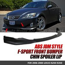 FOR 06-08 LEXUS IS250/350 PAINTABLE BLACK PU JDM FRONT BUMPER LIP TRIM BODY KIT