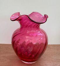 Cranberry Decorative Vase
