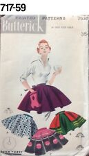 VTG Sewing Pattern Butterick #7536 Apron ULTRA 1950S UNUSED