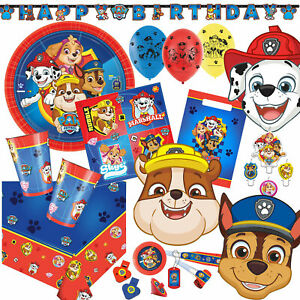 PAW PATROL- Geschirr Deko Mitgebsel Kindergeburtstag Kinder Geburtstag Party Set