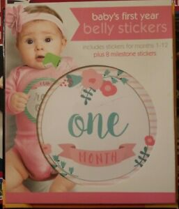 C.R. Gibson Baby's First Year Belly Stickers, Floral (BBS-18501)