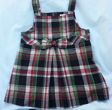 Gymboree Pups and Kisses Girls 6 Purple Plaid Sleeveless Bow HALTER TOP Shirt