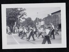 Old Vintage Antique Photograph Cool Band Marching in Parade - Instruments Music
