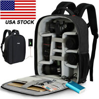 Professional Large USB Camera Backpack Bag For Canon Nikon Leica Sony Pentax SLR