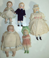 FIVE(5)  All Bisque Dolls that are in Great Condition with Clothes NO Damage~~~