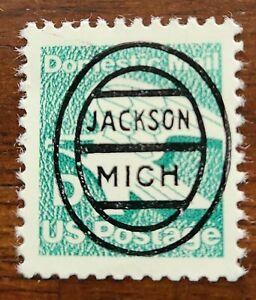 Michigan MI precancel 2111- L-1E Jackson Oval D-Rate RARE Only 2 known