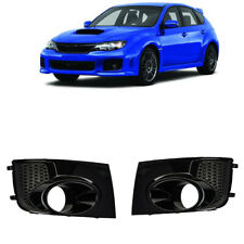 L+R For Subaru Impreza WRX STi Fog Light Lamp Bezel Cover Frame 2011-2014 Black