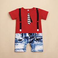 NEW Baby Boys Kids Overalls Costume Suit Grow Outfit Romper Pants Clothes 3-24M
