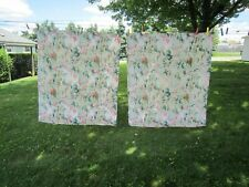 """Vintage 1950's French Provincial BARKCLOTH CURTAINS (2) PANELS 44"""" x 50"""""""