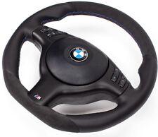 Abgeflacht Lenkrad BMW E46 e39  ALCANTARA und Blende multif..Schwarz mit Airbag