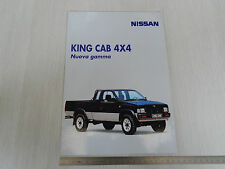 DEPLIANT BROCHURE ORIGINALE FUORISTRADA NISSAN KING CAB 4WD 4X4