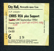 Original 1984 Chris Rea Konzert Ticket Stub Newcastle UK Wired To The Moon