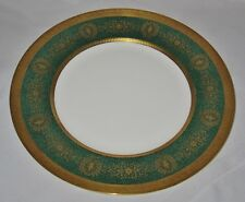 Coalport LADY ANNE, GREEN, Gold Encrusted, Dinner Plate, 10 3/4""