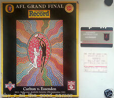 1993 AFL GRAND FINAL Record & Membership & Ticket ESSENDON BOMBERS Premiers
